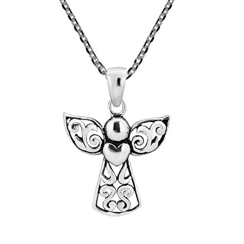 Silver  Angel Pendants Necklace