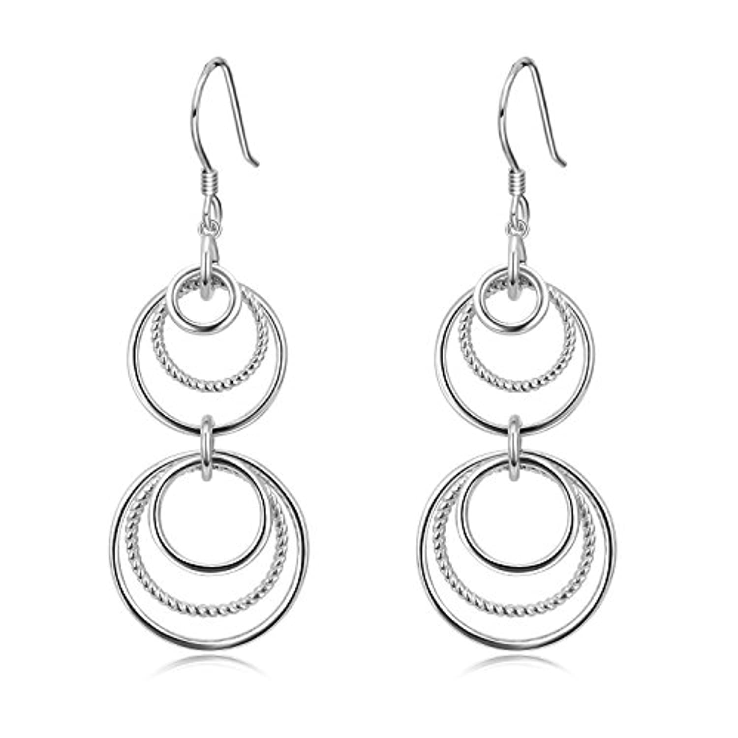Infinity Circle Dangle Earrings
