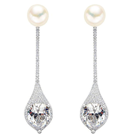 Bridal Prom Drop Ear Jacket Earrings