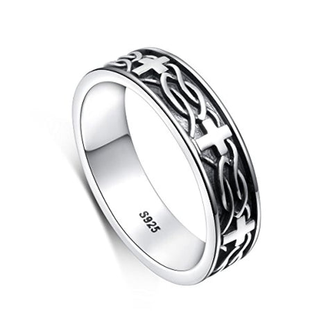 Silver Celtic Knot Cross Rings