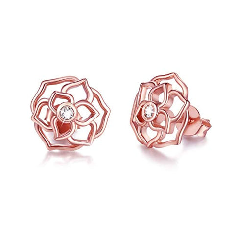 Flower Earring Sterling Silver Stud