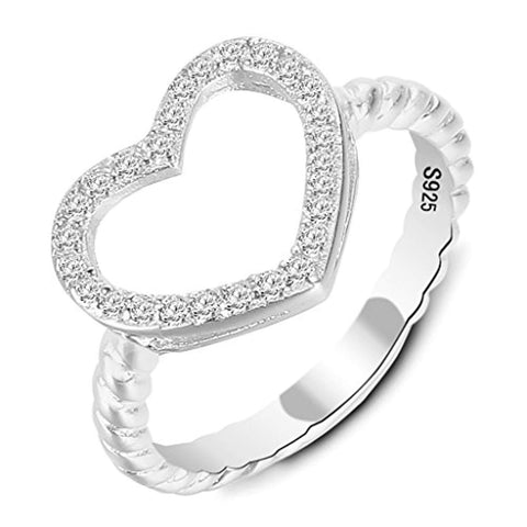 Love Heart Wedding Engagement Ring