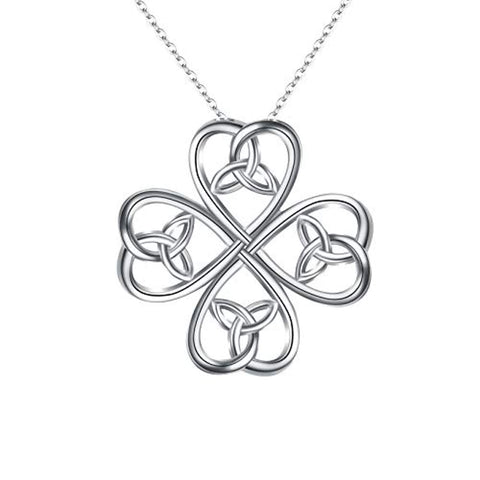 Celtic Four Leaf Clover Pendant