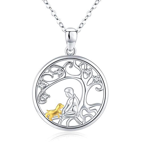 Silver Keepsake Dog Pendant Necklace