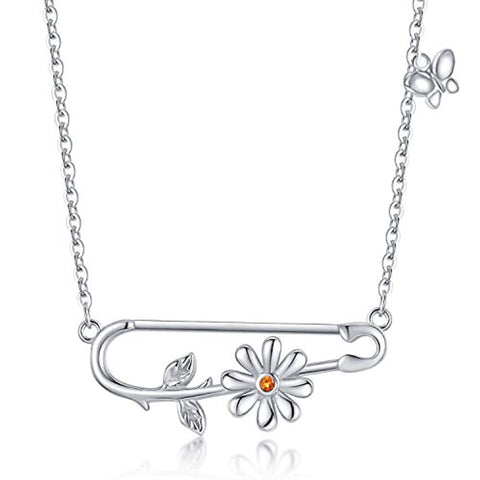 Silver Fun Daisy Necklace