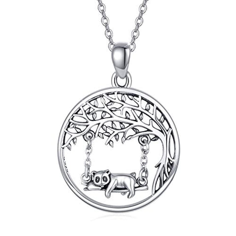 Silver Raccoon Necklace