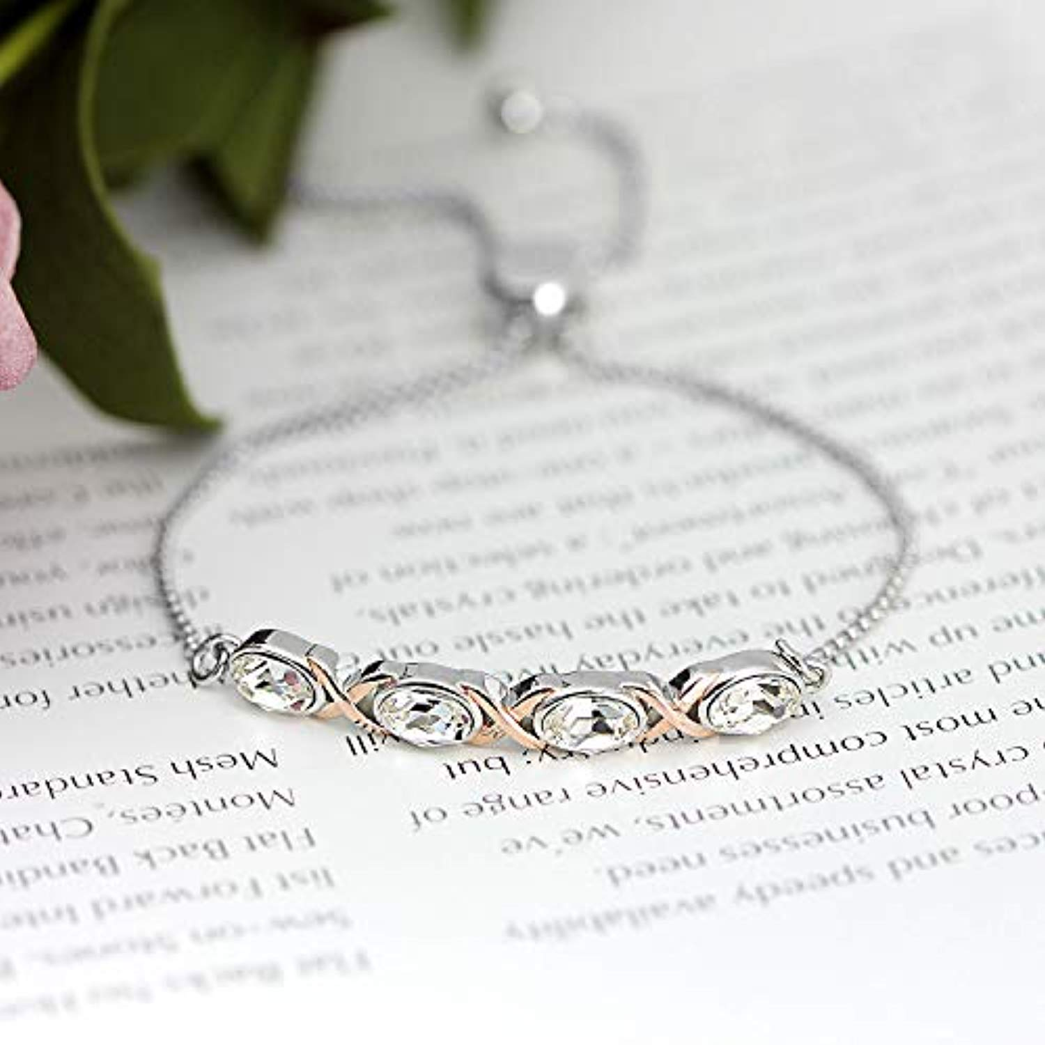 Adjustable Charm Bracelets for Women Jewelry Bracelets for Teen Girls with Gift Box