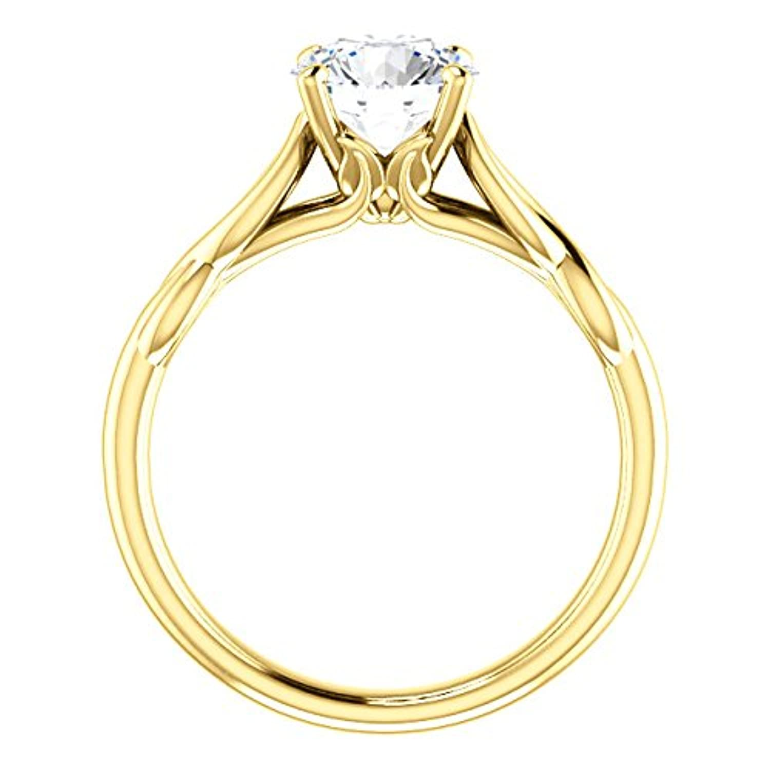 1 Carat Forever One Moissanite Near Colorless Unlimited Style Solitaire Engagement Ring in 14k White or Yellow Gold