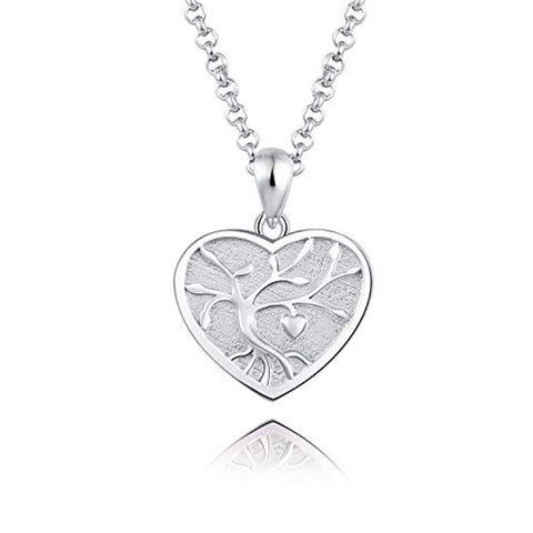 Silver Tree of Life  Urn Pendant Necklace