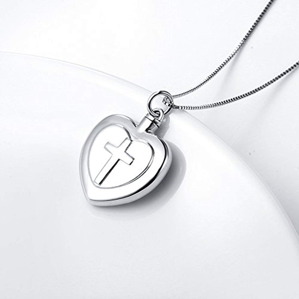 S925 Sterling Silver Heart Urn Memorial Ashes Keepsake Exquisite Cremation Pendant Necklace