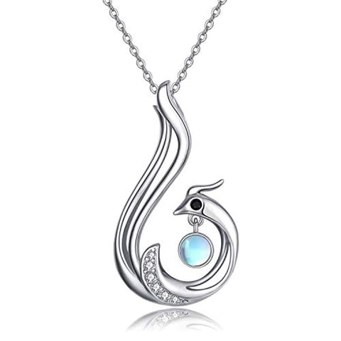 Silver Phoenix Pendant Necklace