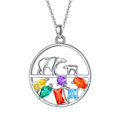 Silver Polar Bear Necklace