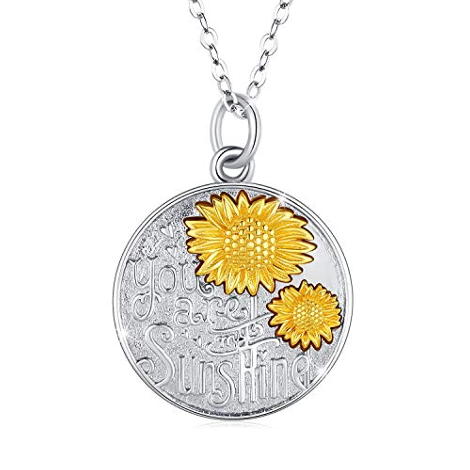 SUNNY Day Unisex Sterling Silver Alphabet Pendant Necklace s925 Necklace Jewelry