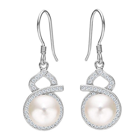 Pearl 8-Shaped Drop Earrings