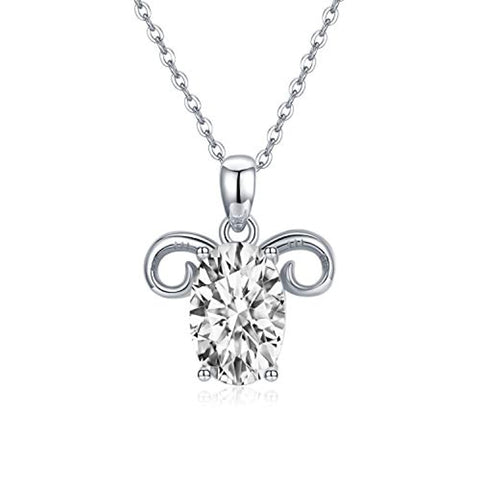 Silver Aries Pendant Necklace