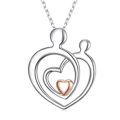 Mother Child Heart Necklace