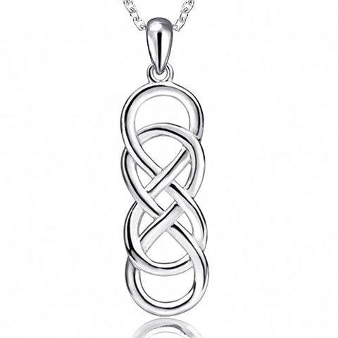 925 Sterling Silver Infinity Love Celtic Knot Pendant Necklaces Jewelry Gift for Women