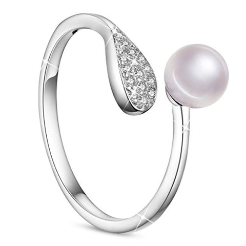 Ring with Pearl and Leaf