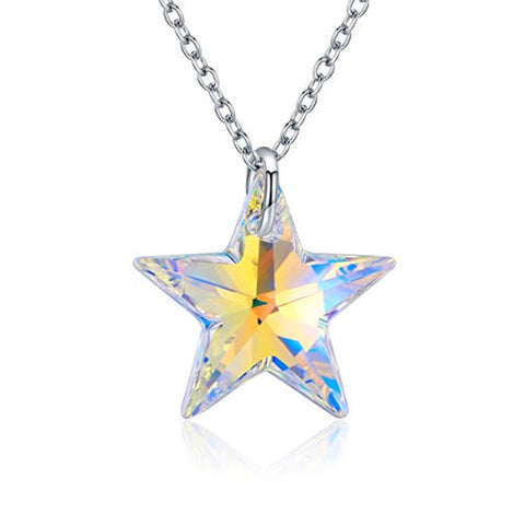 Silver Crystal Star Necklace