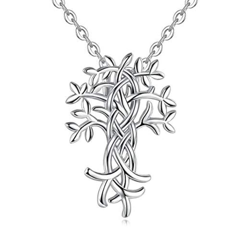 Silver Irish Celtic Knot  Tree of Life  Necklace Pendant