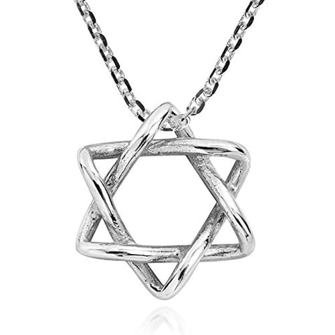 Silver Star of David necklace Pendants