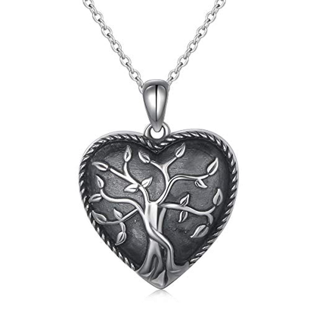 S925 Sterling Silver Heart  Memorial Ashes Keepsake Exquisite Cremation Pendant Necklace