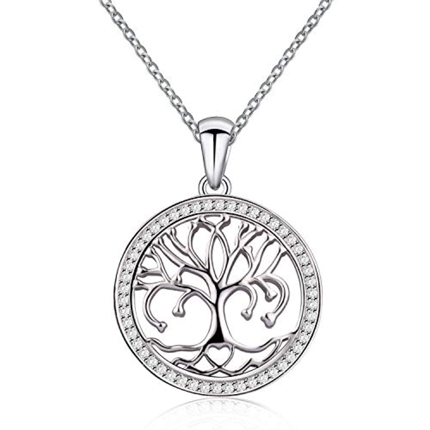 Tree of Life Love Heart Pendant Necklace