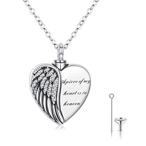 Silver Heart Urn Necklaces