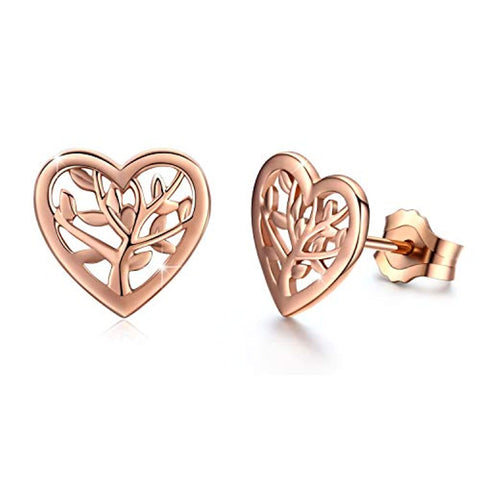 Heart Shaped Studs Earrings