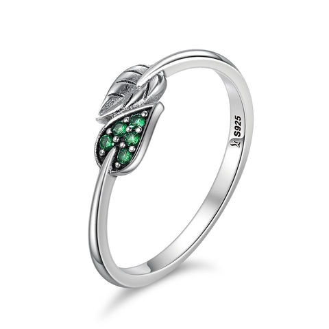 Green Leaf Dancing Ring