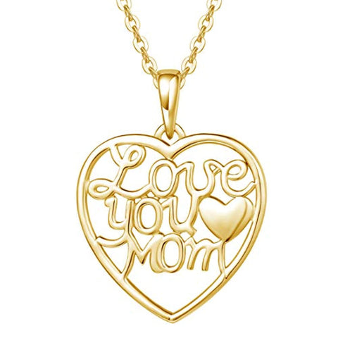 Mothers Love Heart Pendant Necklace