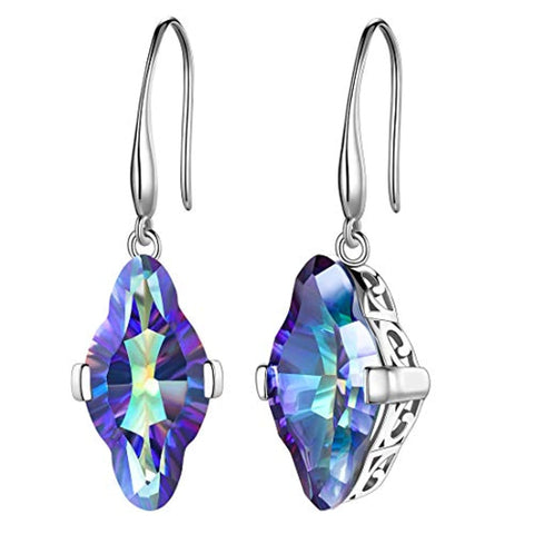 Mystic Topaz Dangle Earrings