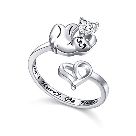 Animal Sloth Heart Ring
