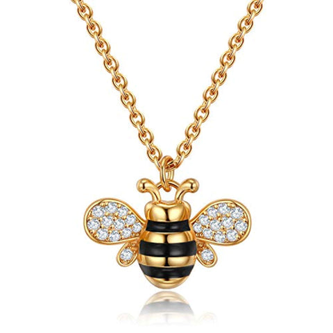 Honey Bee Pendant Necklace