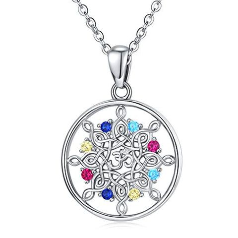 Silver Om Aum Ohm Pendant Necklace