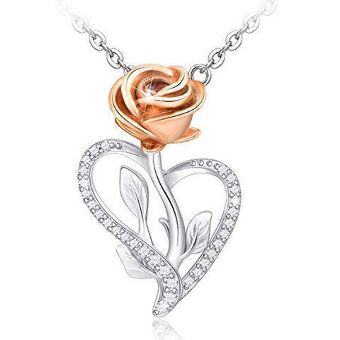 3D Rose Flower Love Pendant