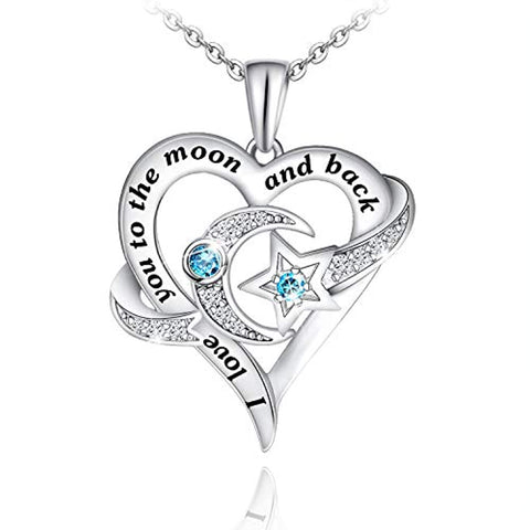 Love You to The Moon and Back Valentine's Necklaces