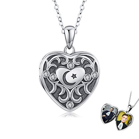 Silver Love Heart Locket Necklace