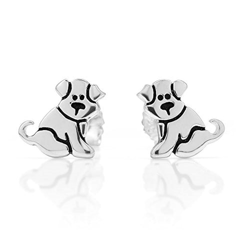 Small Puppy Dog 11 mm Post Stud Earrings