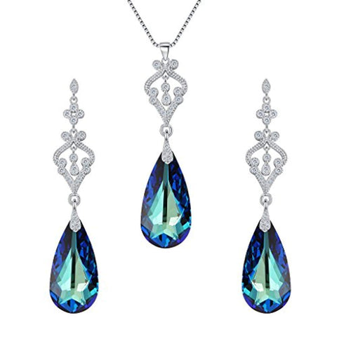 Swarovski Crystals Necklace Earrings Set