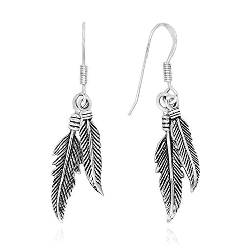 Two Feathers Dangle Earrings