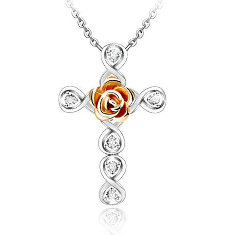 Rose Flower Dainty Pendant