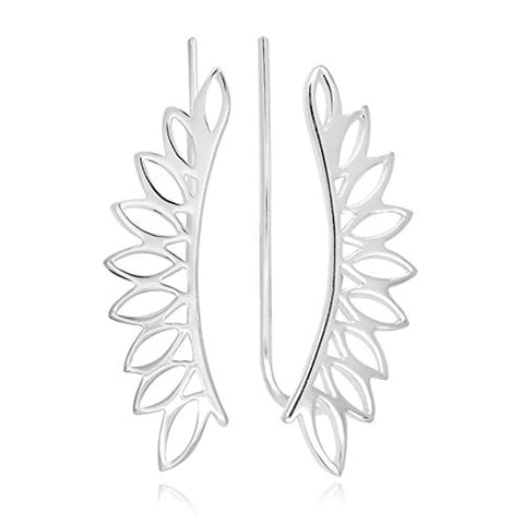 Angel Wing Ear Pin Crawler Earrings