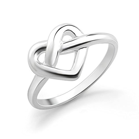Heart Shaped Infinity Love Knot Ring