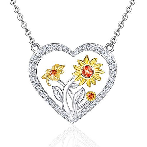 You are My Sunshine Love Heart Necklace Pendant