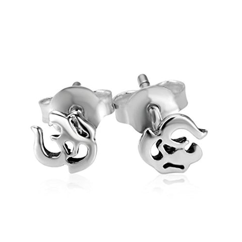 India Symbol Stud Earrings