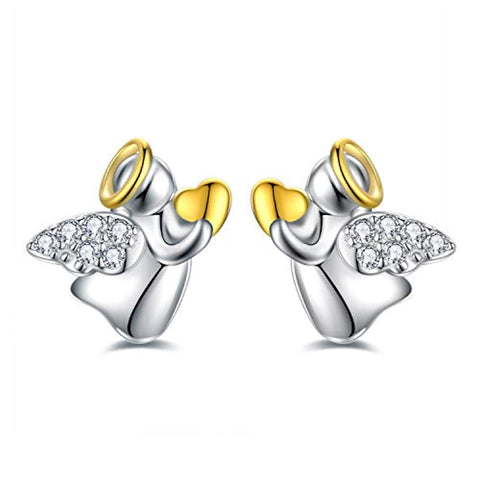 Silver Cubic Zirconia Tiny Stud Earrings