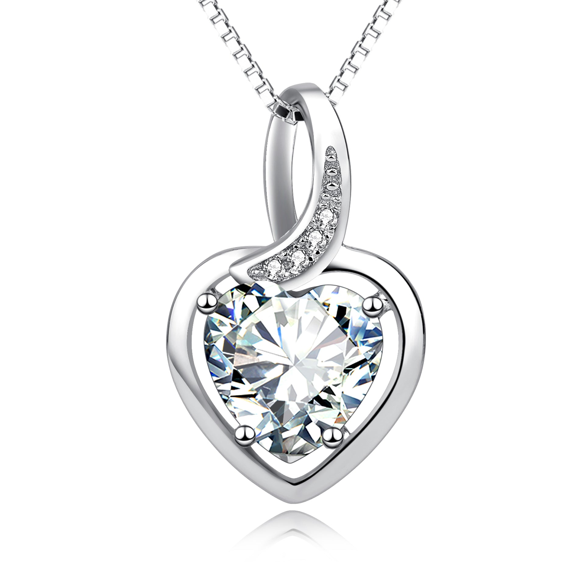 luxury heart necklace crystal bride bridesmaid wedding necklace