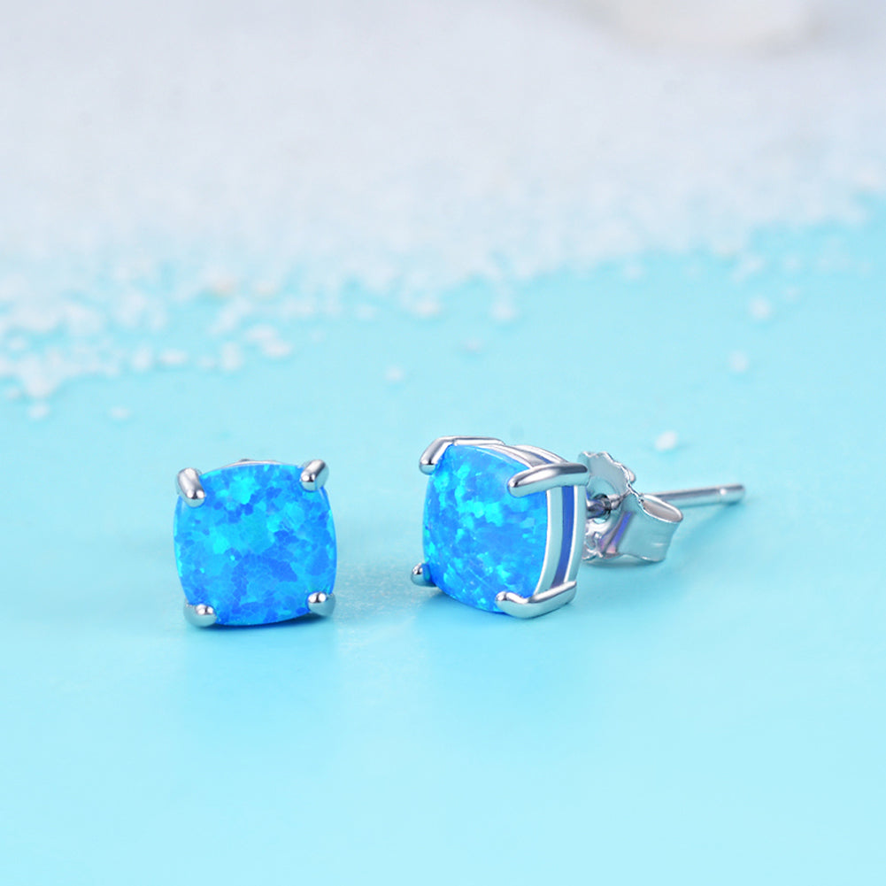 Beautiful Elegant Ladies Earrings Opal Stud Earrings Wholesale