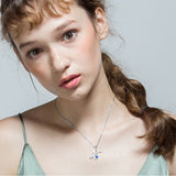 High Quality Rhodium Plating Colorful Zircon Letter X Pendant Necklace